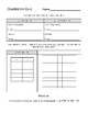 Quadratic Functions Quick Quiz - Print or Digital