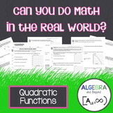 Quadratic Functions - Real World Applications
