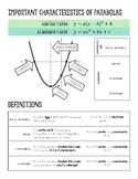 Quadratic Functions - Review