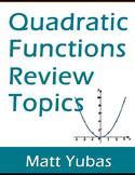 Algebra Quadratic Functions Review Topics