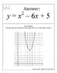Quadratic Functions Scavenger Hunt - Graphs to Vertex Form