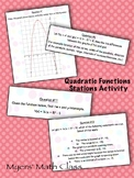 Quadratic Functions Stations Activity