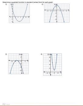 Quadratic Functions Student Notes