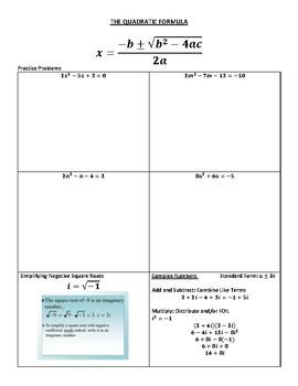Quadratic Functions Study Guide