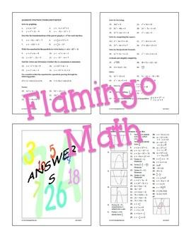 Quadratic Functions Tournament Review Activity (Algebra 2 - Unit 4)