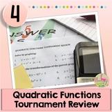 Quadratic Functions Tournament Review Activity (Algebra 2