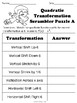 Quadratic Functions Transformation