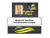 Quadratic Functions Transformation Analysis