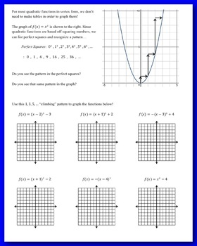 Quadratic Function Transformations (Guided Notes & Assessment)