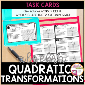 Quadratic Transformations Task Cards