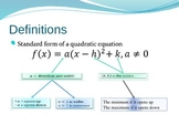 Quadratic Functions and Completing the Square