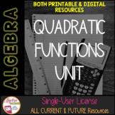 Quadratic Functions and Equations Unit Membership