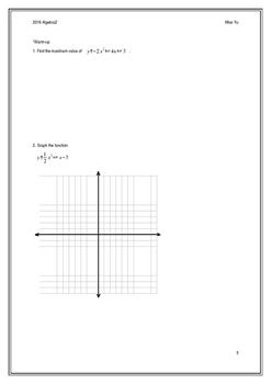 Quadratic Functions and Factoring