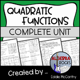 Graphs of Quadratic Functions Unit