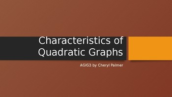 Quadratic Graph Parts Notes and Practice Assignment