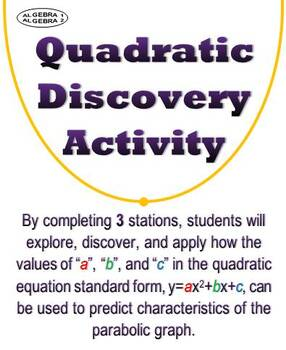 Quadratic Graph Properties Discovery Station Activity