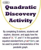 Quadratic Graph Properties Discovery Activity - Distance Learning