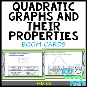 Quadratic Graphs And Their Properties Notes Worksheets ...