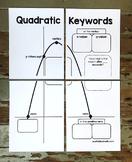 Algebra Poster: Quadratic Word Problem Keywords