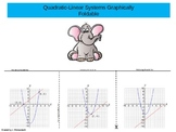 Quadratic-Linear Systems Graphically Foldable PowerPoint P