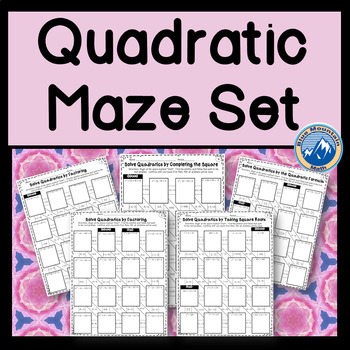 Quadratic Maze Set - Solving with a variety of methods
