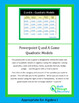 Powerpoint Q and A Game - Quadratic Models