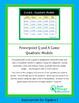 Algebra I: Powerpoint Q and A Game - Quadratic Models