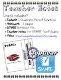 Quadratic Parent Function Lesson