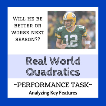Quadratic Performance Task - The Case of Aaron Rogers (Real World)