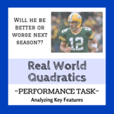 Quadratic Performance Task - The Case of Aaron Rogers (Rea