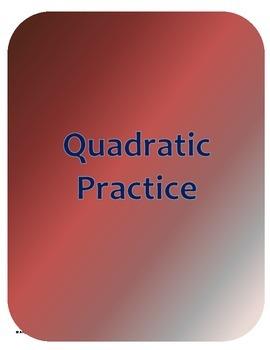 Quadratic Practice