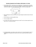 Word Problems: Quadratics involving Borders and Corners
