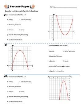 Quadratic Qualities Partner Paper