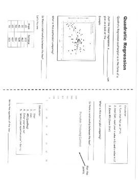 Quadratic Regression Notes for INB