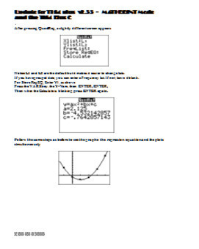 Graphing Quadratic Regression on the TI 83 TI 84 Graphing Calculator