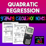 Graphing Quadratic Regression on the TI 83 TI 84 Graphing Calculator