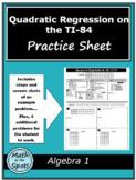 Quadratic Regression on the TI-84
