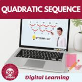 Quadratic Sequence Higher- 9th grade, 10th grade, (UK GCSE (5-9))