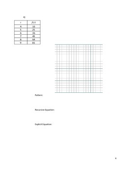 Quadratic Sequences Activity 1 of 5
