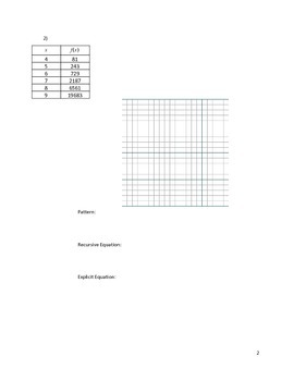 Quadratic Sequences Activity 5 of 5