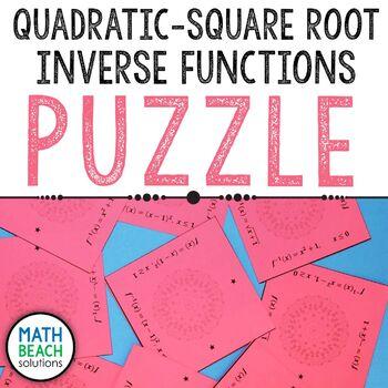 Quadratic - Square Root Inverses Puzzle Activity