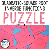 Quadratic - Square Root Inverses Puzzle Activity