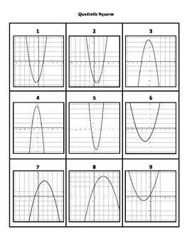 Quadratic Squares Puzzle