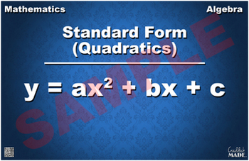 Quadratic Standard Form Math Poster