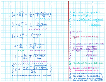Quadratic Superhero (Quadratic Formula)