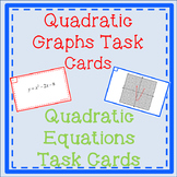Quadratic Task Cards-Properties of Graphs, and Solving Quadratics