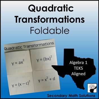 Quadratic Transformations Foldable (A7C)