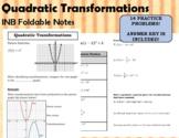 Quadratic Transformations - INB Foldable Notes (5-3)