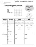 Quadratic Transformations Investigation