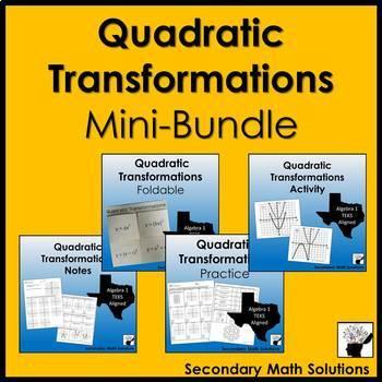 Quadratic Transformations Mini-Bundle  (A7C)